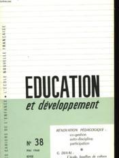 Education Et Developpement N°38 - Couverture - Format classique