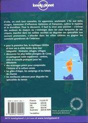 Corse - 4ème de couverture - Format classique