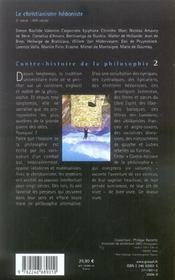 Contre-histoire de la philosophie t.2 ; le christianisme hédoniste - 4ème de couverture - Format classique
