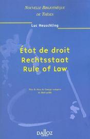 Etat de droit, rechtsstaat, rule of law - Intérieur - Format classique