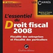 Essentiel du droit fiscal (édition 2008) - Couverture - Format classique
