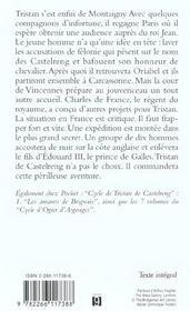 Cycle de Tristan de Castelreng t.2 ; le poursuivant d'amour - 4ème de couverture - Format classique