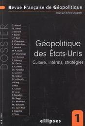 Geopolitique Des Etats-Unis Culture Interets Strategies - Intérieur - Format classique