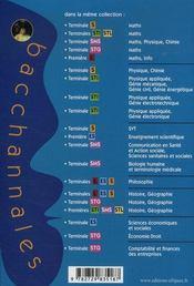 Bacchannales S ; Physique-Chimie ; Enseignement Obligatoire Et De Specialité ; Annales Thématiques (Bac 2008) - 4ème de couverture - Format classique