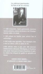 Le pudlo Paris (édition 2008) - 4ème de couverture - Format classique