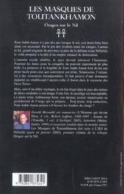 Les masques de tout-ankh-amon - 4ème de couverture - Format classique