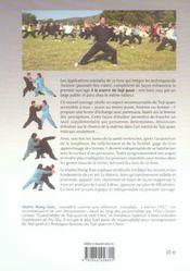 Applications Martiales Du Taiji Quan - 4ème de couverture - Format classique