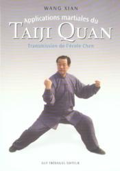 Applications Martiales Du Taiji Quan - Couverture - Format classique