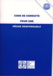 Code De Conduite Pour Une Peche Responsable - Couverture - Format classique