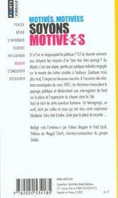 Motives, Motivees, Soyons Motive-E-S - 4ème de couverture - Format classique