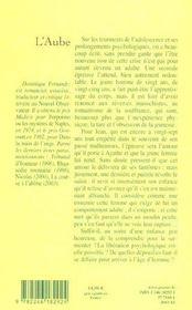L'aube (ned) (édition 2004) - 4ème de couverture - Format classique