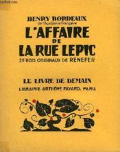 L'Affaire De La Rue Lepic. 29 Bois Originaux De Renefer. Le Livre De Demain N° 231. - Couverture - Format classique