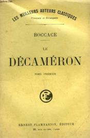 Le Decameron. Tome 1. - Couverture - Format classique