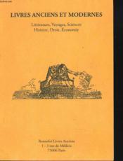 Livres Anciens Et Modernes. Catalogue N°98. - Couverture - Format classique