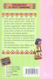 Yakari T.2 ; Yakari et Petit Tonnerre - 4ème de couverture - Format classique
