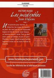 Les misérables t.1 ; Jean Valjean - 4ème de couverture - Format classique