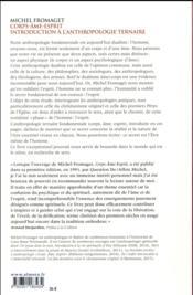 Corps-âme-esprit ; introduction à l'anthropologie ternaire - 4ème de couverture - Format classique