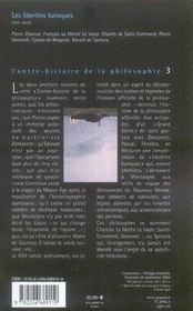 Contre-histoire de la philosophie t.3 ; les libertins baroques - 4ème de couverture - Format classique