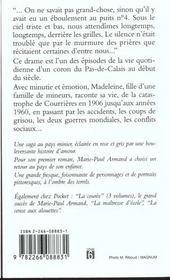 La Poussiere Des Corons - 4ème de couverture - Format classique