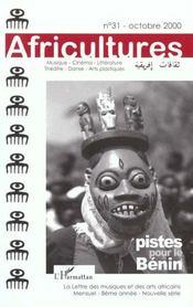 Revue Africultures T.31 ; Piste Pour Le Bénin - Intérieur - Format classique
