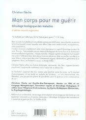 Corps pour me guerir (mon) - 4ème de couverture - Format classique