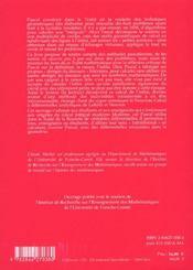 Le Chant Du Cygne Des Indivisibles. Le Calcul Integral Dans La Dernie Re Uvre Scientifique De Pasca - 4ème de couverture - Format classique