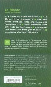 Le Maroc - 4ème de couverture - Format classique