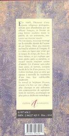 Lettres De La Religieuse Portugaise - 4ème de couverture - Format classique