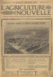 L'agriculture nouvelle, n°1105, samedi 22 juin: un port pour le dépot du bois coupé - Couverture - Format classique