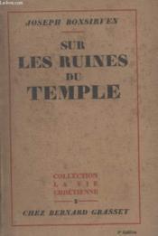 Sur Les Ruines Du Temple. - Couverture - Format classique