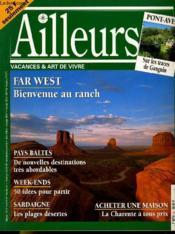 Ailleurs N°3 - Vacances & Art De Vivre - Far West: Bienvenur Au Ranch - Pays Baltes - Sardaigne... - Couverture - Format classique