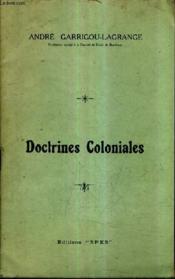 Doctrines Coloniales - Couverture - Format classique