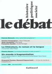 Revue Le Débat N.120 ; mai-août 2002 - Intérieur - Format classique