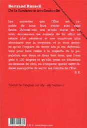 De la fumisterie intellectuelle - 4ème de couverture - Format classique