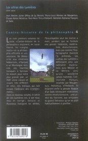 Contre-histoire de la philosophie t.4 ; les ultras des lumieres - 4ème de couverture - Format classique