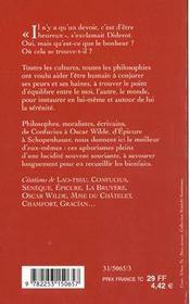 Le livre de la sérénité - 4ème de couverture - Format classique