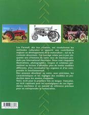 Tracteurs farmall - 4ème de couverture - Format classique