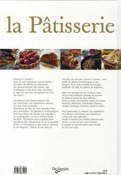La pâtisserie - 4ème de couverture - Format classique