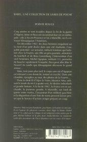 Pointe rouge - 4ème de couverture - Format classique