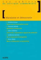 Marxisme Et Democratie - Couverture - Format classique