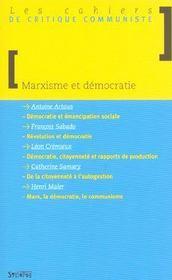 Marxisme Et Democratie - Intérieur - Format classique