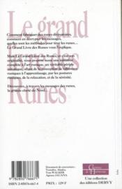 Le grand livre des runes ; initiation et voyage vers la munmière du Nord - 4ème de couverture - Format classique