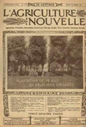 L'agriculture nouvelle, n°1174, samedi 18 octobre: plantation de 14 ans de peupliers grisads - Couverture - Format classique