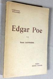 Edgar Poe. - Couverture - Format classique