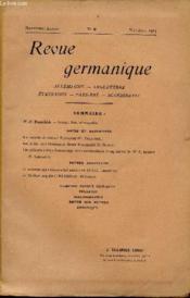 Revue Germanique / Allemagne - Angleterre - Etats-Unis - Pays-Bas - Scandinavie / Neuvieme Annee - N°3 - Mai-Juin 1913 - Couverture - Format classique