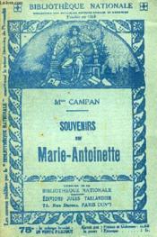 Souvenirs Sur Marie Antoinette. - Couverture - Format classique