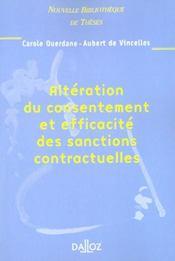 Alteration du consentement et efficacite des sanctions contractuelles - Intérieur - Format classique