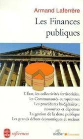 Les Finances Publiques - Couverture - Format classique
