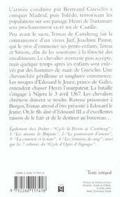 Cycle de tristan de castelreng - 4ème de couverture - Format classique