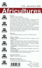 Revue Africultures T.33 ; L'Impact Des Chasseurs - 4ème de couverture - Format classique